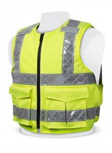 PPSS Hi Viz Overt Stab Resistant Vests have become the first choice of body armour for many public facing services due to their exceptional level of protection from blunt force trauma and hypodermic needles.