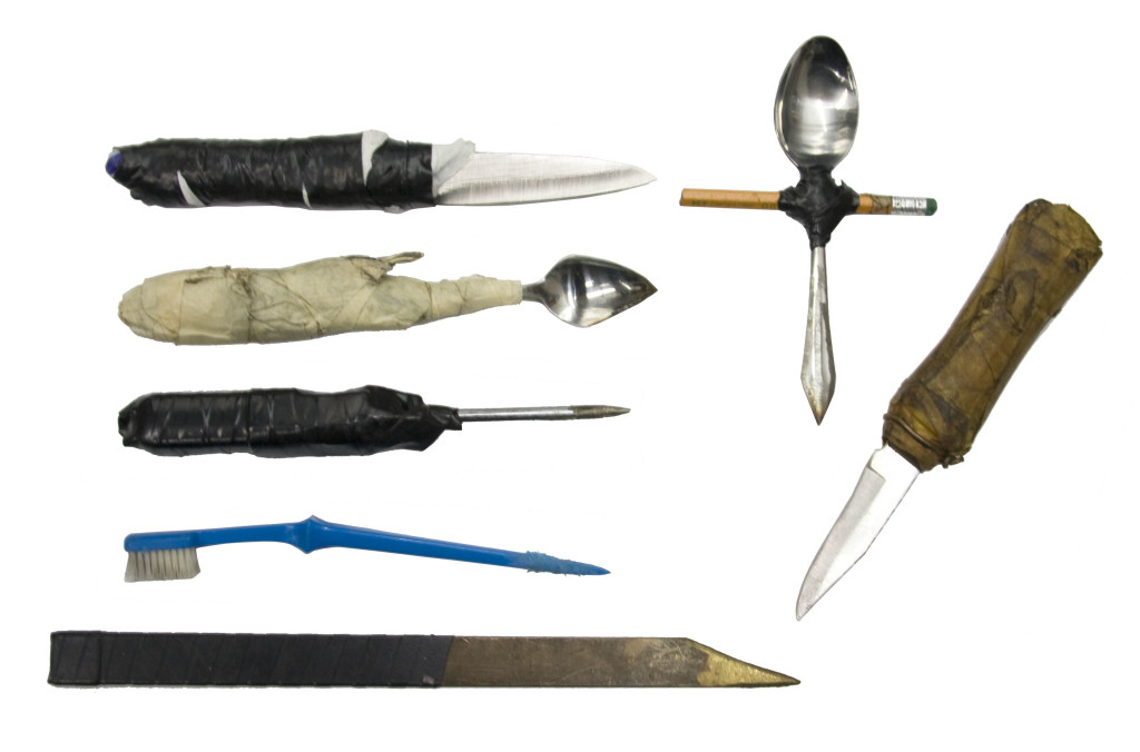 Body armour for prison officers - prison shanks weapons