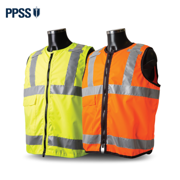 PPSS Tabard Style Stab Resistant Vests Yellow Orange