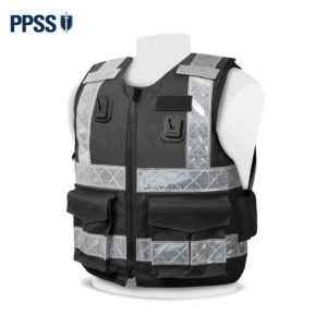 PPSS Stab Resistant Vests Black Reflective Tape